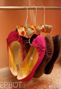 ที่แขวนรองเท้าทำเองสวยๆ