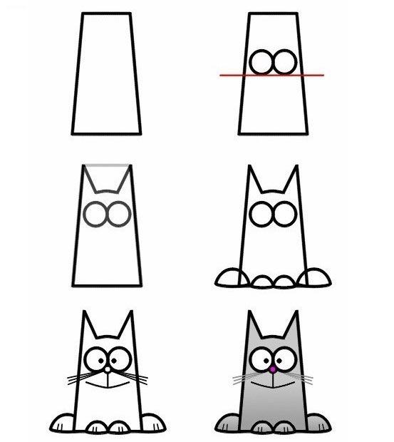 วิธีการวาดรูปแมวแบบง่าย ๆ