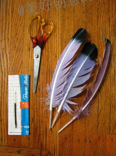 อุปกรณ์การทำปากกาขนนก ไอเดียเก๋