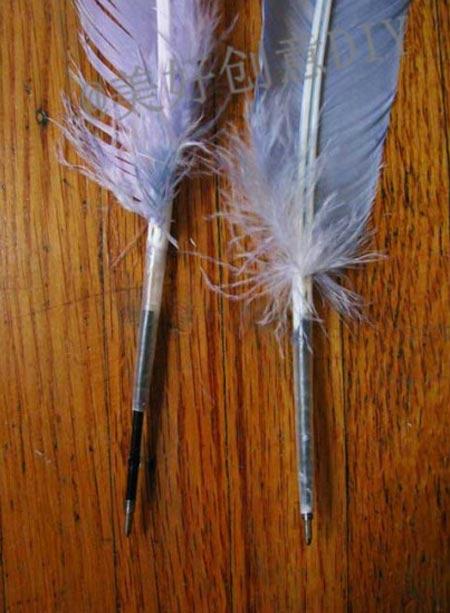 วิธีการทำปากกาขนนกสวย ๆ เก๋ ๆ