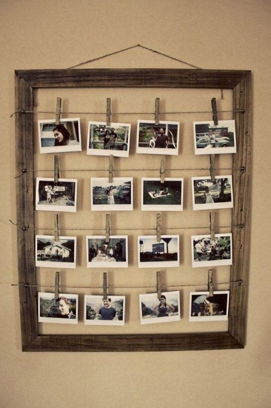 ตัวอย่างการติดรูปภาพสวย ๆ ไว้ที่บ้าน