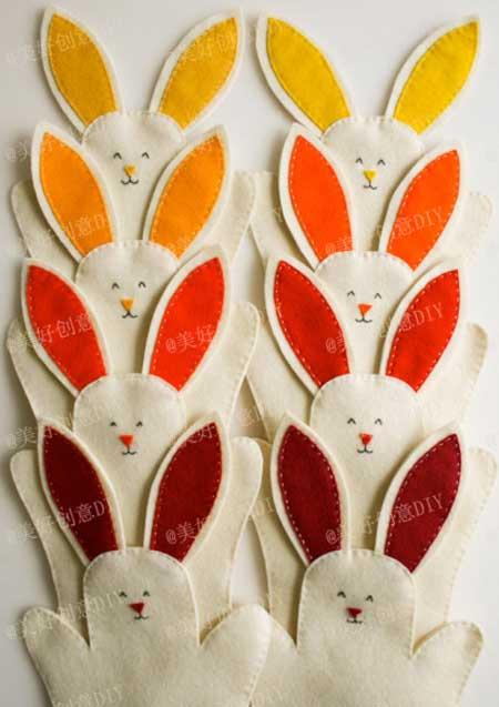 ตุ๊กตามือรูปกระต่ายทำเอง