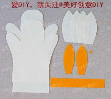 วิธีการทำตุ๊กตามือเองรูปกระต่าย