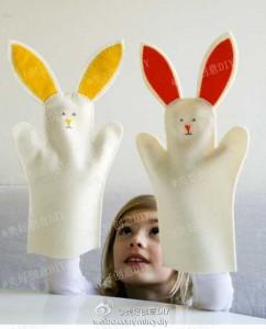 วิธีทำตุ๊กตามือ รูปกระต่าย ให้ลูกเล่น