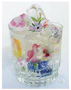 ทำก้อนน้ำแข็งดอกไม้สวย