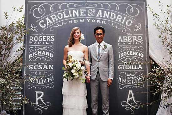 ฉากงานแต่งงานทำเองสวย ๆ