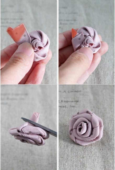 DIY ยางรัดผมรูปดอกกุหลาบ